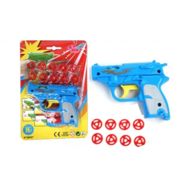 2 stuks pistool met schietschijfjes GRATIS BIJ BESTEDING VANAF 25 EURO