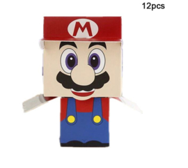 12 stuks snoepdoosjes Mario - bonbondoosjes - traktatiedoosjes