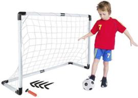 Voetbal goal - voetbaldoel - 116 x 79 x 32 - incl. voetbal en pomp + haringen