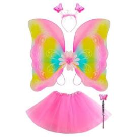 4- delige vlinder kostuum 3-5 jaar