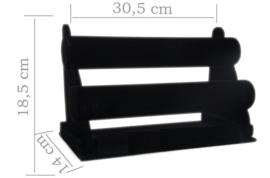 Armbanden display fluweel zwart 2 rol