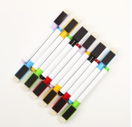 6 stuks magnetische whitebord stiften