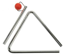 Triangel Metaal Rood 13 Cm