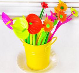6 stuks balpennen bloem