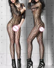 Sexy elastische body lange mouwen Onze Size