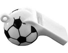 12 stuks Voetbalfluit aan koord