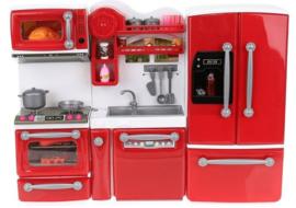 Complete keuken voor bijv. barbie met 47 accessoires