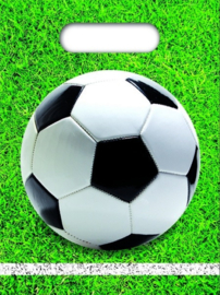 12 stuks uitdeelzakjes voetbal 23 x 16 cm