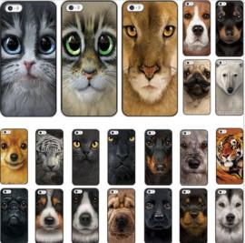 Telefoonhoesje Iphone 5S honderassen 3d print
