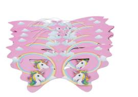 10 stuks unicorn maskers