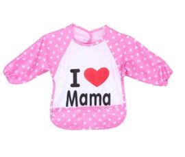 Slabbetje / short I LOVE Mama - waterdicht