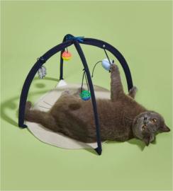 Katten speelkleed met hangende speeltjes 43x42x46 cm