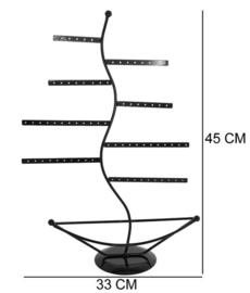 Metalen oorbellen display 45 cm hoog