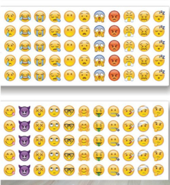 660 emoji stickers - 12 velletjes