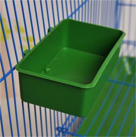 2 stuks vogelbakje - eet/drink bakje voor vogelkooi groen 12 cm * 7 cm * 3.5 cm