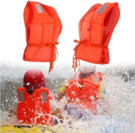 Veiligheids zwemvest - reddingsvest kind oranje met fluitje