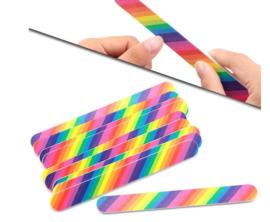 5 stuks nagelvijl regenboog kleuren