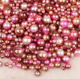 250 parel kralen roze mix 4-6-8-10 mm