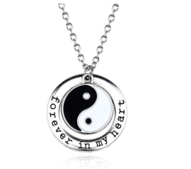 Ketting Ying yang Forever in my Heart