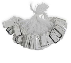 Prijslabeltjes 100 stuks wit/zilver