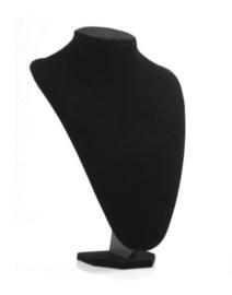 Sieraden display zwart fluweel 36cm hoog