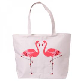 Katoenen tas Flamingo