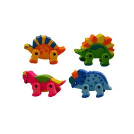 8 stuks dinosaurus gumnen