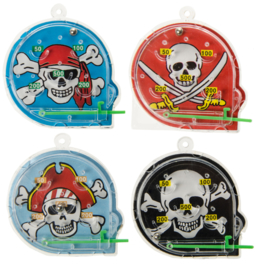 10 stuks flipperspelletjes piraat 5 cm / uitdeelcadeautjes