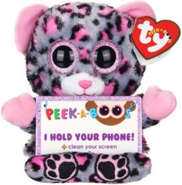 TY Pluche Luipaard met Glitter ogen Smartphonehouder Trixi 15cm