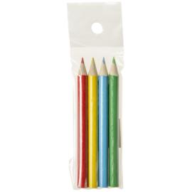 10 setjes mini kleurpotloden 4 stuks (= 40 potloodjes)