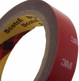 Dubbelzijdig permanente 3M foamtape 10mm / 3 meter