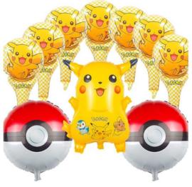 10 helium ballonnen Pokemon