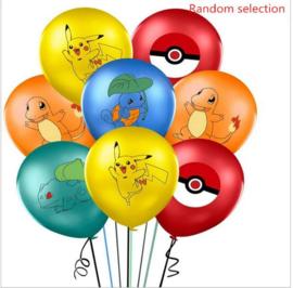 20 stuks Pokemon ballonnen multicolor