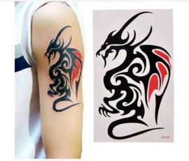 3 stuks tattoo tribal draak 10.5 x 6 cm