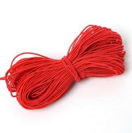 50 meter elastisch kralenkoord rood 1 mm