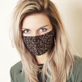 Fashion mondmasker kleine bloemetjes wasbaar - herbruikbaar
