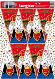 Raamstickers vlaggen Sinterklaas