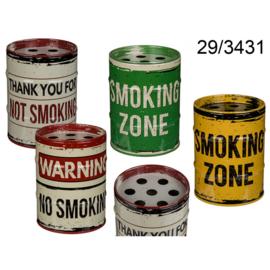 Retro metalen asbak - Thank You NOT Smoking