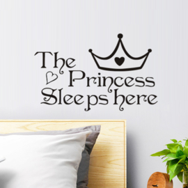 Muursticker Princess sleeps here