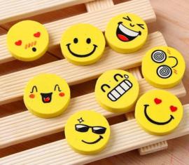 4 stuks Emoji gummen