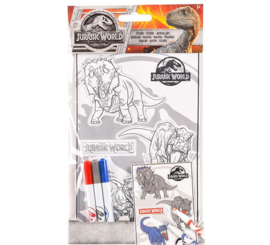 2 setjes Jurassic World inkleur 3D stickers