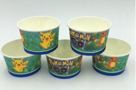10 stuks kartonnen ijsbekertjes Pokemon