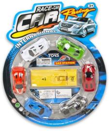Auto speelset 6 auto's + launcher