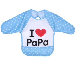 Slabbetje / schort I LOVE papa - waterdicht