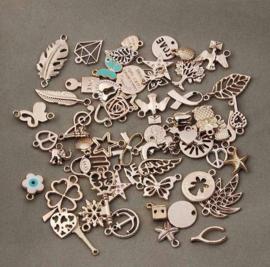 36 stuks metalen rose goudkleurige bedels