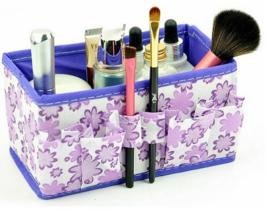 3 stuks opbergboxen paars - roze - blauw bloemen motief