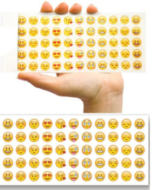 660 emoji stickers - 12 velletjes