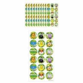 10 velletjes Jungle dieren stickers 9x18 cm