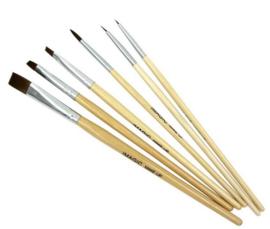 Set van 6 stuks bodypaint penselen