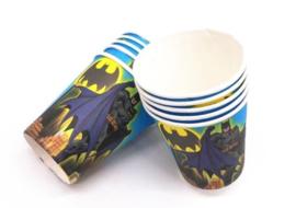10 stuks kartonnen bekers Batman